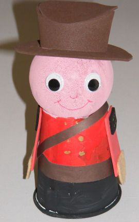 Cup and ball Mountie craft for kids