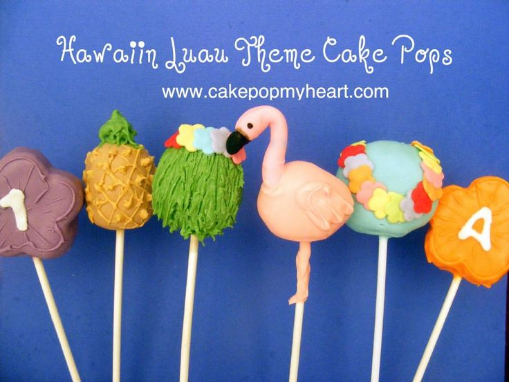 Hawaiian Luau Cake Pops