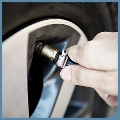 Check tyre pressure and spare tyre regularly.