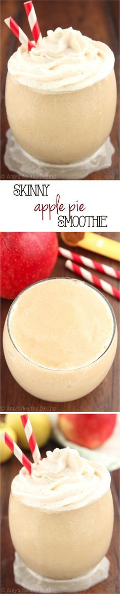 Skinny #Apple Pie #Smoothie -- SO good! It tastes just like the pie & is only 73 calories! #SmoothieSwag