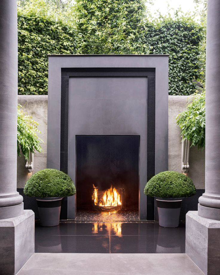 Anouska Hempel Design | Architects, Interior Design, Landscapes, Product Design and Furniture Outdoor fireplace, formal design*