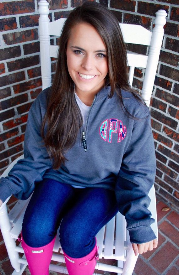 We are in love with our Charles Rivers Quarter Zip Monogrammed Sweatshirts! Its the perfect preppy and classic addition to any wardrobe for