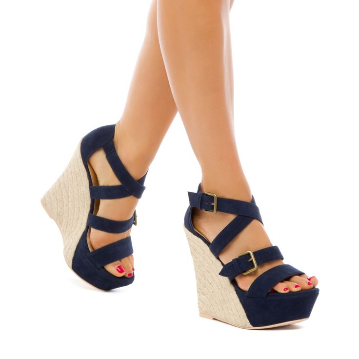 This day-to-night sandal by Leila Stone adds flawless finish to high hemlines. Kori boasts a strappy upper with velvety fabric finish and an espadrille platform wedge. Discover These Trendy Shoes And Other Styles by First Taking Our Style Quiz!