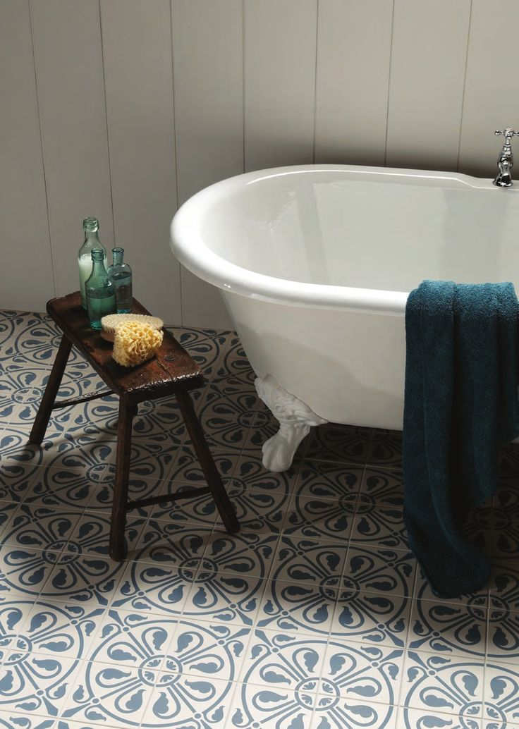 Love these bathroom floor tiles / Ritual Bath <3