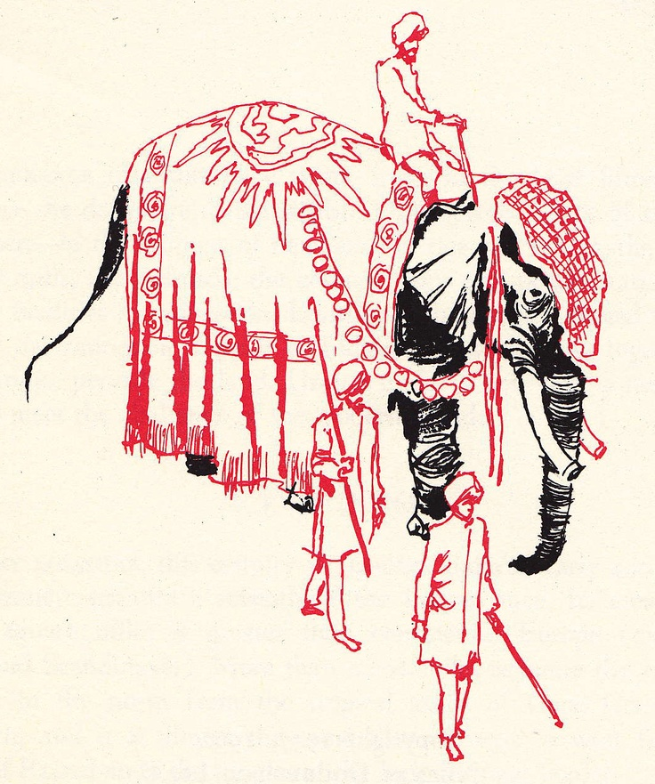 Indian Elephant Line Drawing Indian elephant, figur...