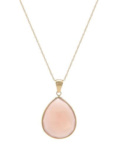 zlatý náhrdelník s ruženínom * gold necklace with rose quartz