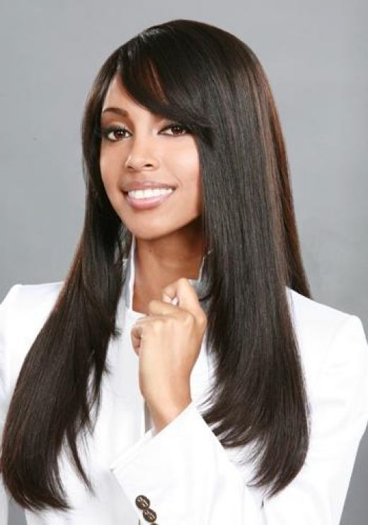 Weave Hair Styles | Black Weave Hairstyles long straight black weave hairstyles with bangs ...