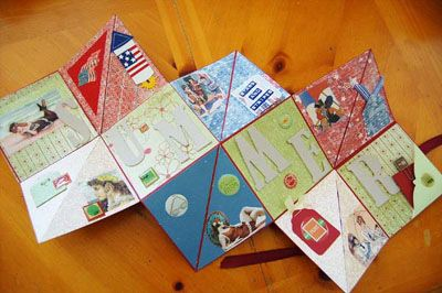 Explosion Scrapbook-The Ultimate Mini Album Website  Whatever you call them, they make great mini scrapbook gifts, as they can easily be customized to fit any occasion or season. You can make these explosion books in various sizes. I am giving you directions here for two sizes.