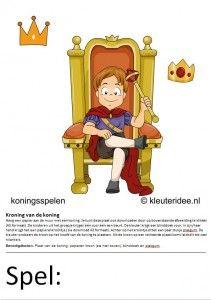 Kaarten voor koningsspelen no.1 , kleuteridee.nl