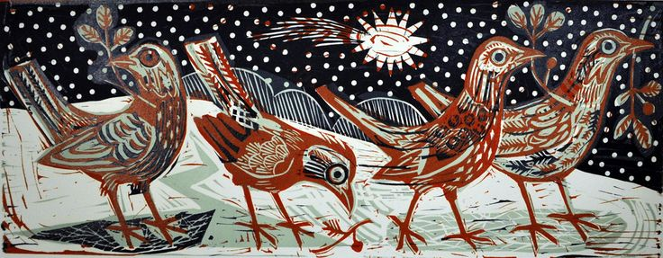 At the First Fall of Snow - Mark Hearld