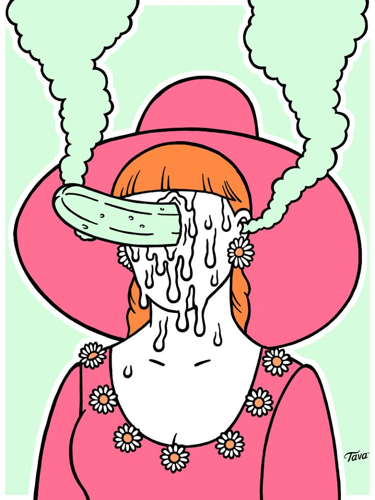 Going Cucumber- Illustration by hand- TAVA X Barkas