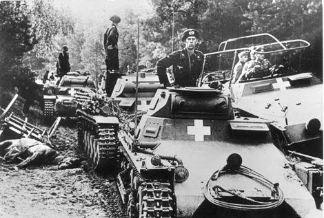 Panzers alemanes durante la invasión de Polonia