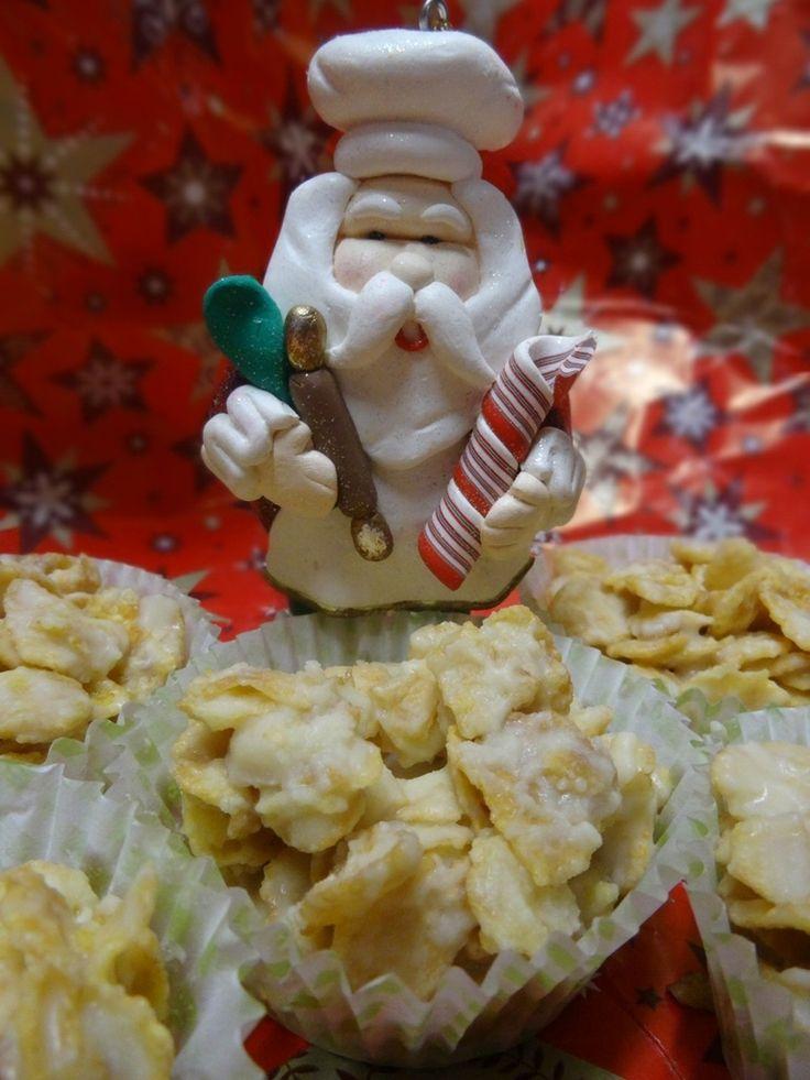 """ROSES DES SABLES AU CHOCOLAT BLANC  Un cadeau gourmand pour Noël ? Alors vite la recette des """"ROSES DES SABLES AU CHOCOLAT BLANC"""" est sur mon blog ICI ;) ---->http://lesdelicesdesandstyle.over-blog.com/2014/12/roses-des-sables-au-chocolat-blanc.html"""