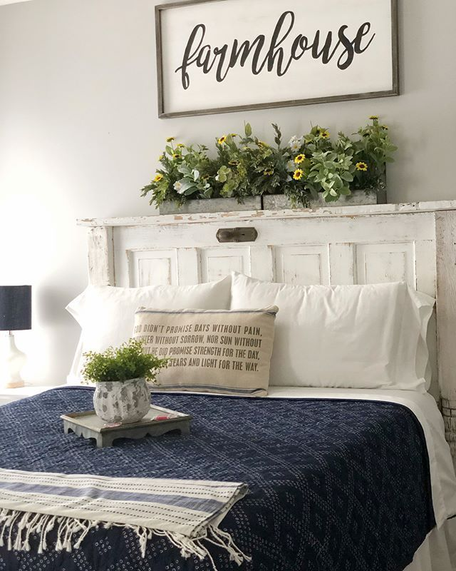 35 Amazing Farmhouse Bedroom Decor Inspiration Ideas