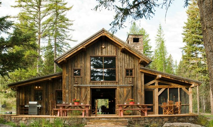 Rustic Barn converted into a House