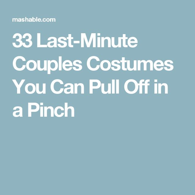 33 Last-Minute Couples Costumes You Can Pull Off in a Pinch