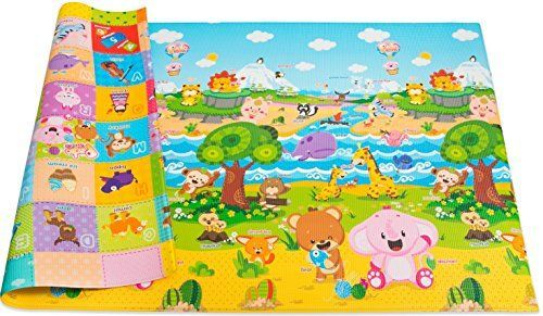Baby Care Play Mat Foam Floor Gym - Non-Toxic Non-Slip Reversible Waterproof, Pingko and Friends, Large. For price & product info go to: https://all4babies.co.business/baby-care-play-mat-foam-floor-gym-non-toxic-non-slip-reversible-waterproof-pingko-and-friends-large/