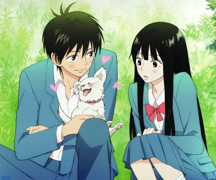 Kimi ni todoke, Kazehaya with Maru Chan (the dog) and Sawako