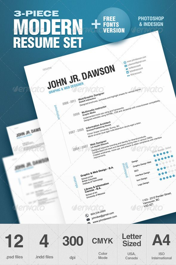 27 best Indesign Resume Templates images on Pinterest Fonts, 4 - indesign resume templates