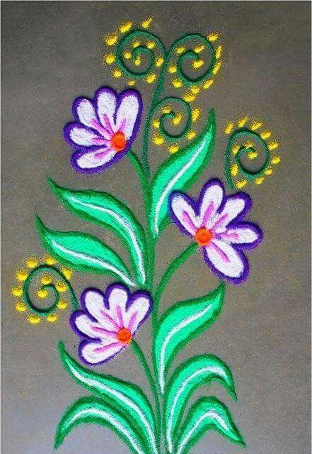 Flowers  | Rangoli | Pinterest | Flowers and Rangoli