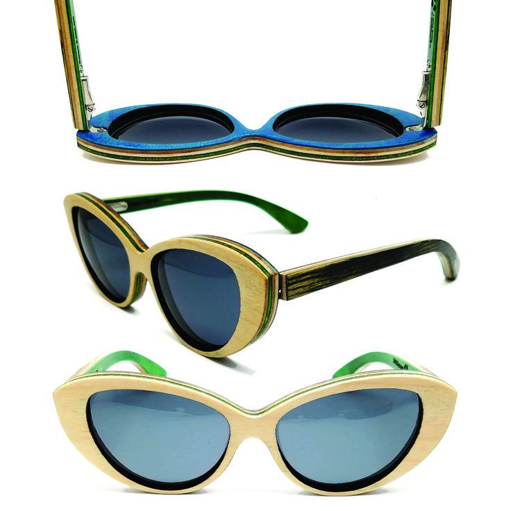 Mariana - Dark Green #woodensunglasses #wooden #sunglasses #sk8glasses #skate #recycled #recycledskateboards #skateboards #ecofriendly #optics #eyewear #lenses #polarized #imissbeingaskateboard #imissbeingatree #handcrafted #handmade #madeintheusa #usa #americanmade
