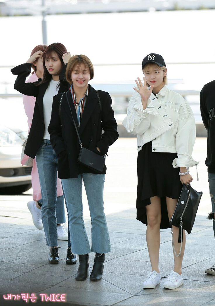 RT @TWICE_Dream_: #채영 #CHAEYOUNG #チェヨン #TWICE  #트와이스 #정연 #Jeongyeon #ジョンヨン #모모 #もも #MOMO  170427 인천공항 출국 https://t.co/505ClkqvWQ