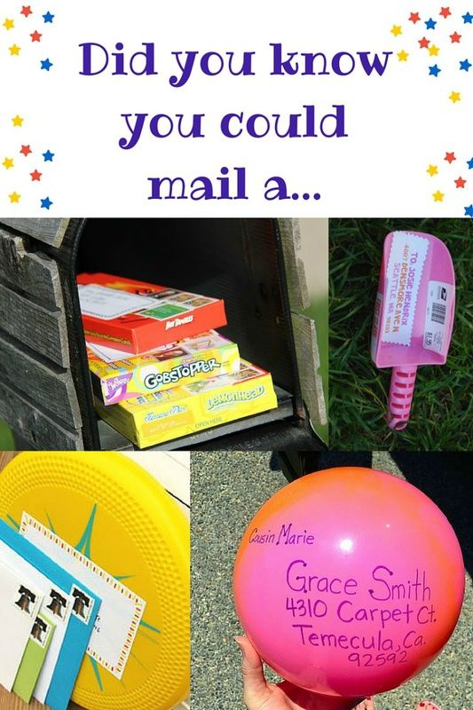 Awesome things you didn't know you could send in the mail!  The Ultimate Pinterest Party, Week 71