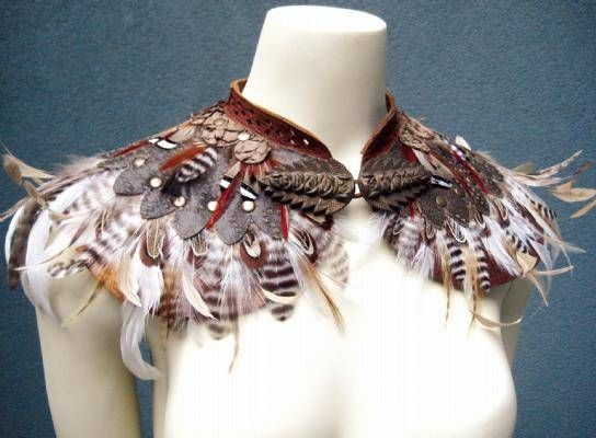 Would be great for a bird, or a tribal costume of some kind. Not too hard actually