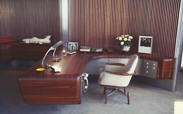 Harley Earl's office at General Motor's Design Center, 1950's