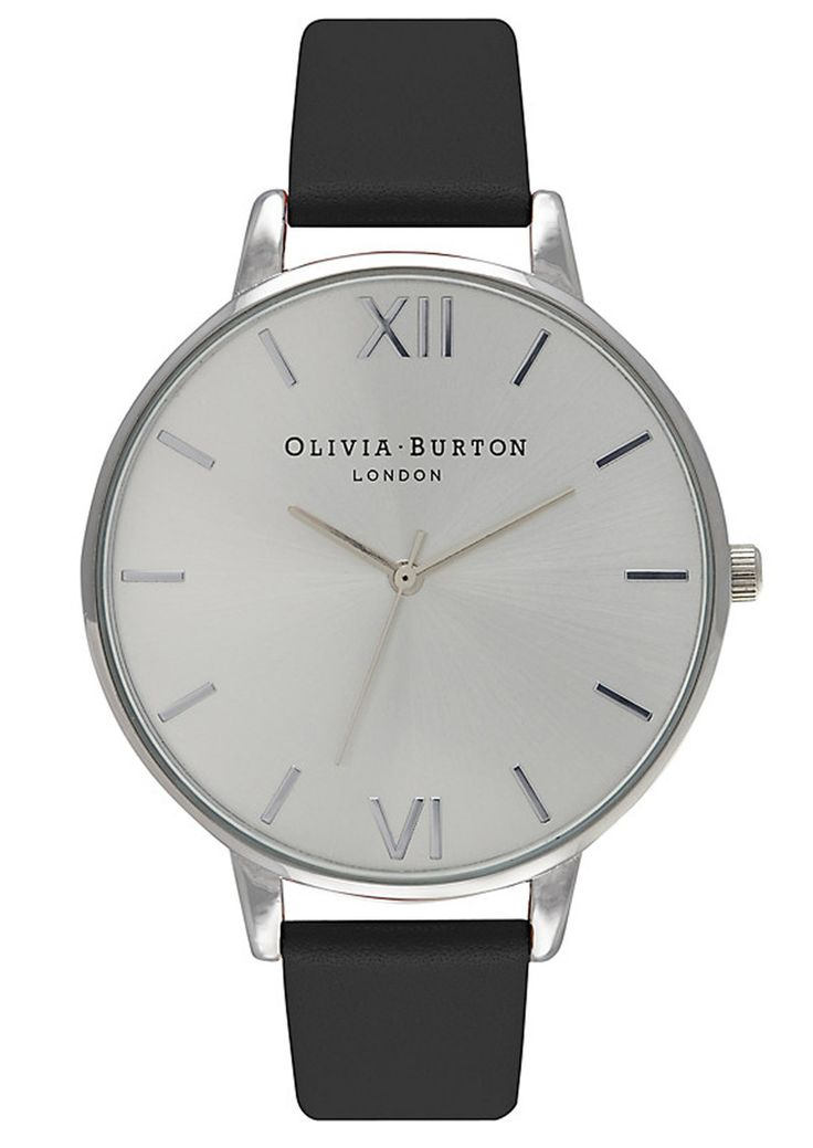 Shop the Olivia Burton Big Dial Watch - Black & Silver online at The Dressing Room. Get 10% OFF your first order + FREE UK delivery!