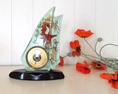 Etsy - Conversations - Mid Century Vintage French Lucite Barometer with Sea Life Scene, Sea Horse, Star Fish in Sail Shaped Resin. Excellent condition. (3958), listing #287836713
