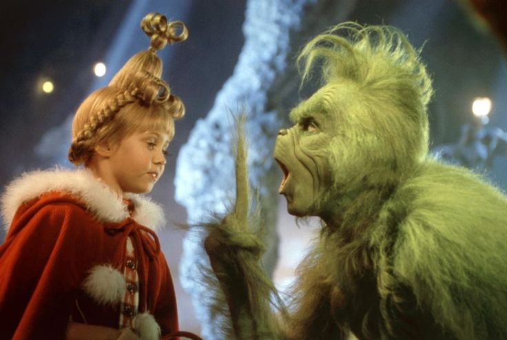 DR. SEUSS' HOW THE GRINCH STOLE CHRISTMAS, Taylor Momsen, Jim Carrey, 2000 | Essential Film Stars, Jim Carrey http://gay-themed-films.com/film-stars-jim-carrey/