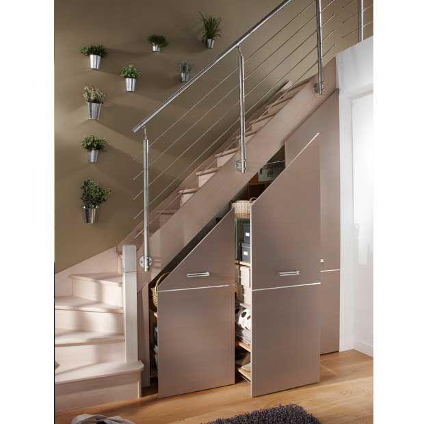 Placard coulissant sous escalier, modèle DECLIC Lapeyre