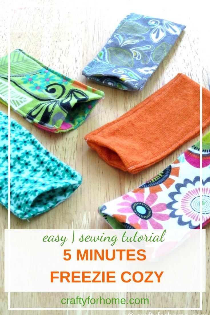 How to sew freezie cozy | Easy sewing tips for making freezie cozy perfect for s…