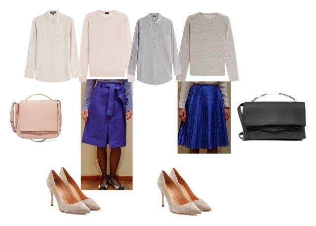 Синие юбки by belska-1 on Polyvore featuring мода, Le Kasha, Theory, Joseph, DKNY, Sergio Rossi and Eddie Borgo