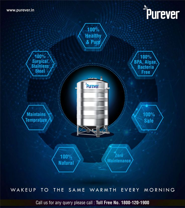 #PUREVER #100% HEALTHY & PURE # 100% BPA, ALGAE, BACTERIA FREE #100% SAFE #ZERO MAINTENANCE #100% NATURAL #MAINTAINS TEMPRATURE #100% SURGICAL STAINLESS STEEL # Switch to Purever Water Tank