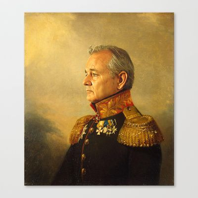 Bill Murray - replaceface Stretched Canvas by Replaceface - $85.00