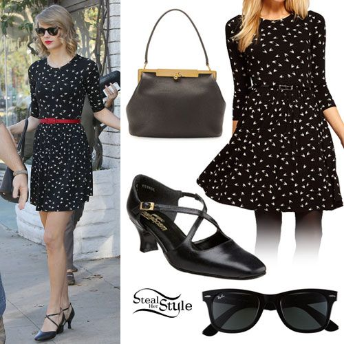 Taylor Swift: Bird Print Dress Outfit- Taylor Swift Style Steal