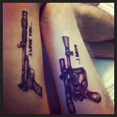 Best 25 his and hers tattoo ideas on pinterest his and for Matching star wars tattoos