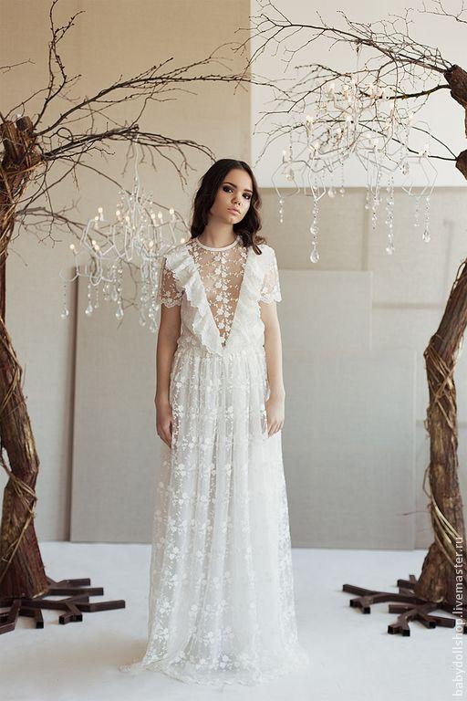 Купить Платье SS15 - белый, платье, длинное платье, белое платье, молочный, платье в пол