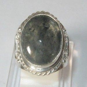 Cincin Pria Rutilated Black Quartz Ring 7US