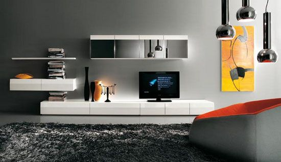 contemporary tv wall units and modern living room furniture