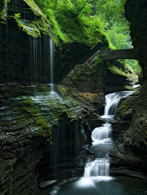 bluepueblo:    Waterfalling, Watkins Glen, New York  photo via mysticism