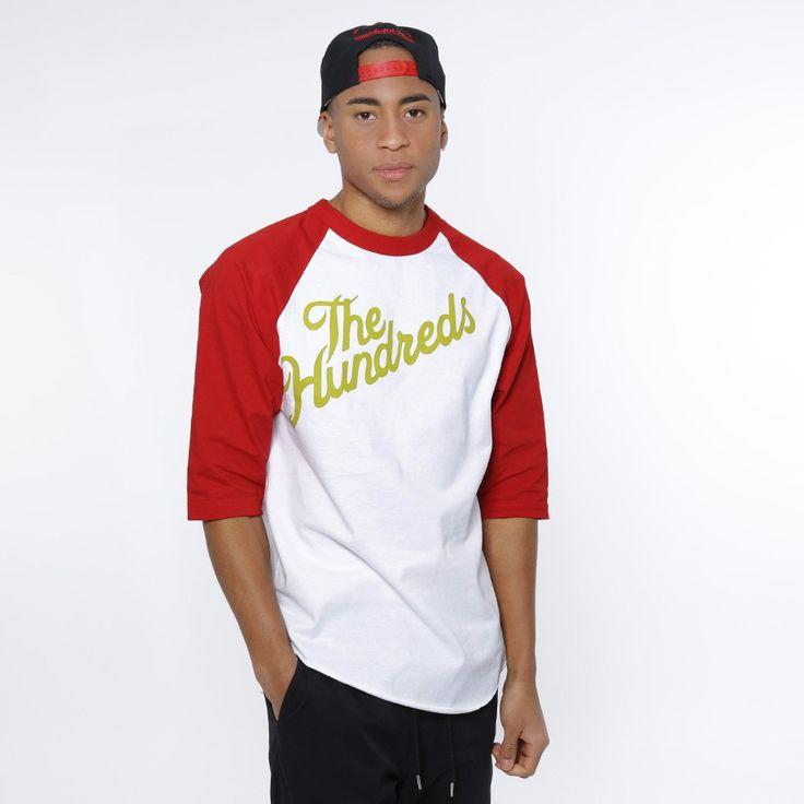 T-Skjorte - Slant Raglan Red/White