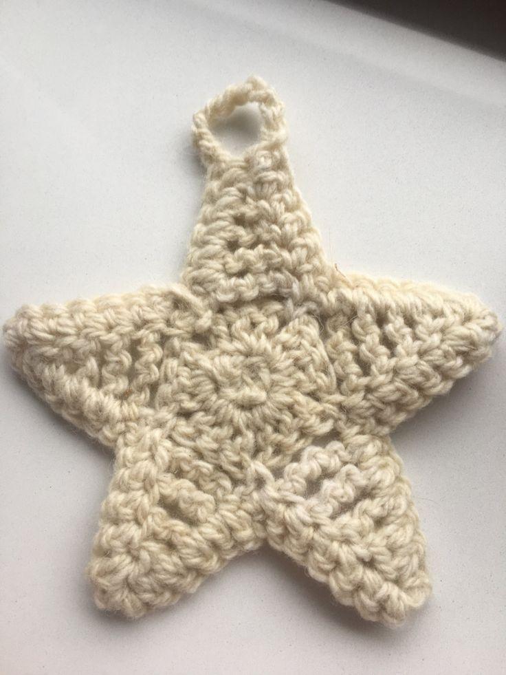 Virka crochet christmas decoration - 15 cm diameter by VirkaStore on Etsy
