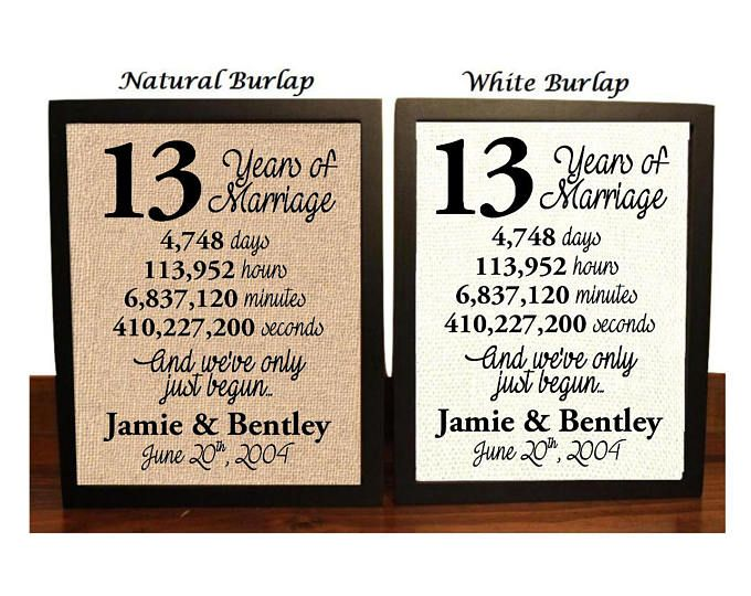 Gift For 13th Wedding Anniversary: 25+ Unique Homemade Anniversary Gifts Ideas On Pinterest