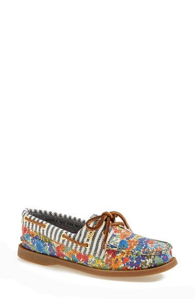 Sperry 'Authentic Original Liberty' Floral Canvas Boat Shoe (Women) available at #Nordstrom