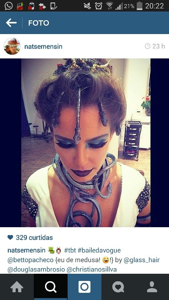 #Fantasia #Medusa #costume #carnaval