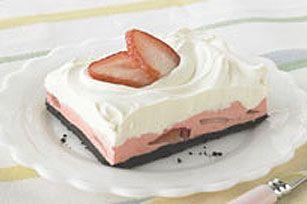 Carrés mousse aux fraises recette
