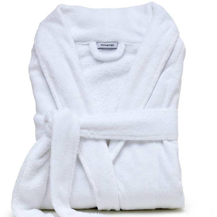 Roupão Microfibra Feminino com Cordone One for All Branco (Tamanho Médio) - MMartan - A moda que veste a sua casa!